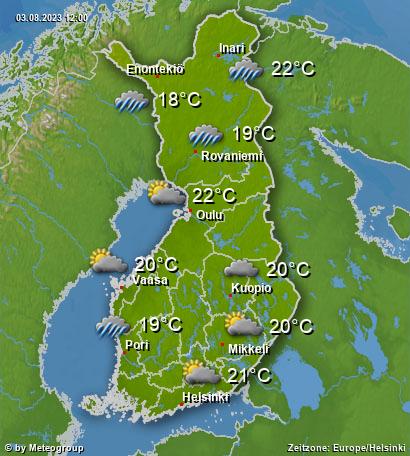 Wetter Finnland
