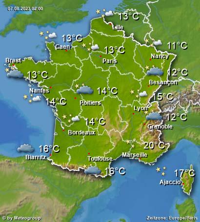 Wetter Frankreich
