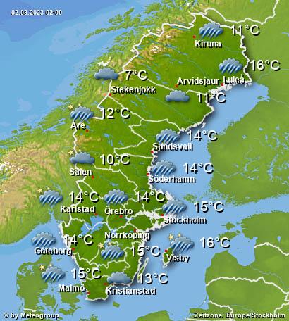Wetter Schweden